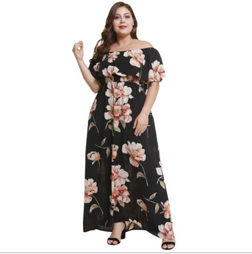 105-620 OFF SHOULDER DRESS