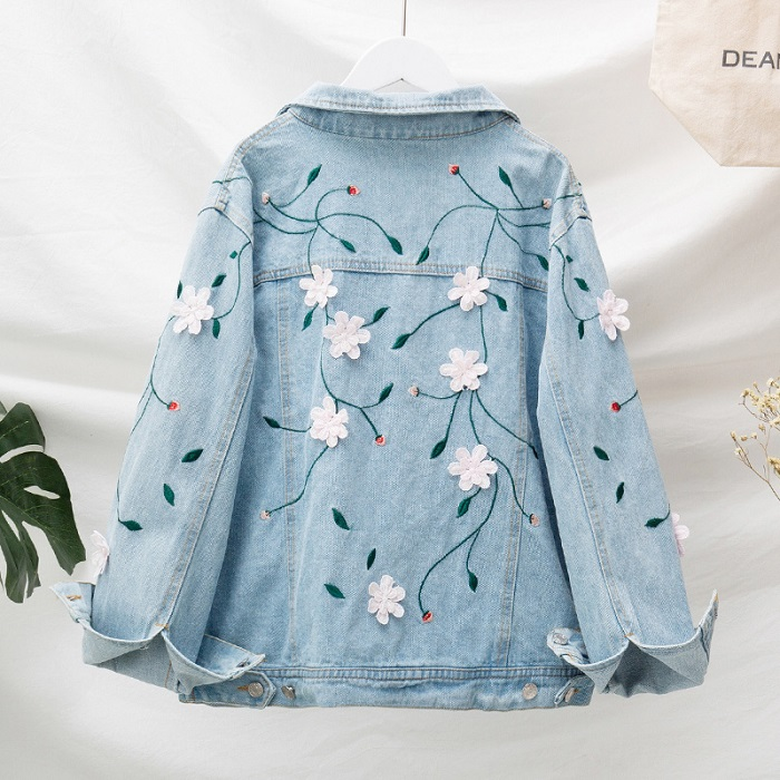 944-622 EMBROIDERY DENIM JACKET